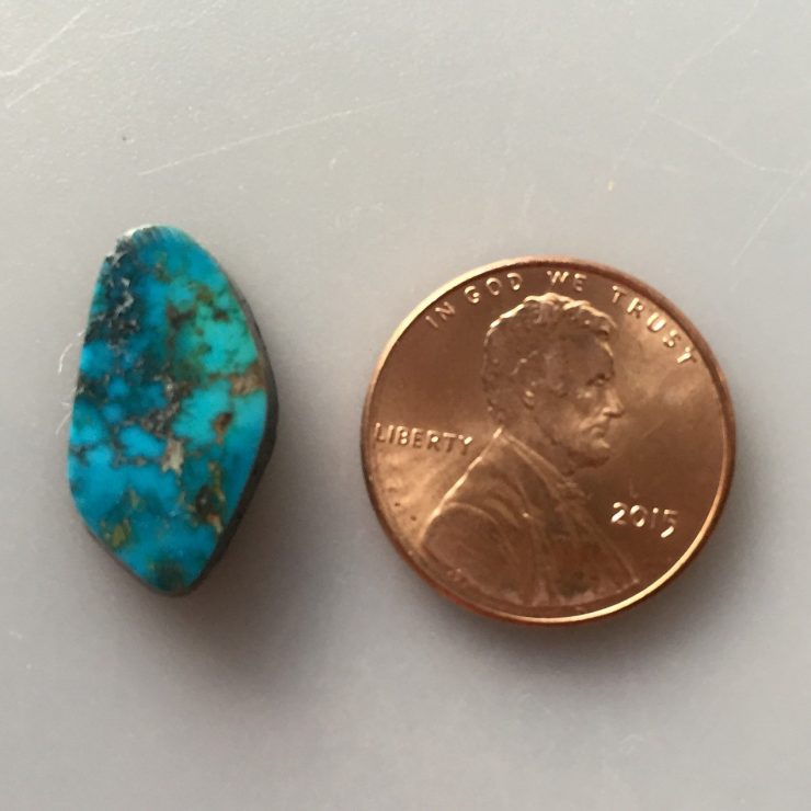 Indian Mountain Turquoise Cabochon Natural 36 Carat Cab Stone Untreated Gemstone Excellent Grade IM21